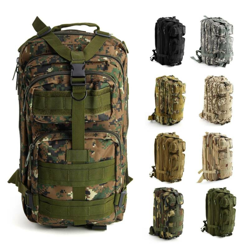 30L/40L/50L Military Tactical Army Rucksacks Molle Backpack Camping Hiking Bag 4