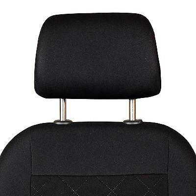 Schwarze 3D Sitzbezüge für AUDI A6 Autositzbezug VORNE NUR FAHRERSITZ