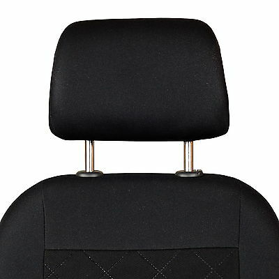 Schwarz-graue Sitzbezüge für NISSAN JUKE Autositzbezug Komplett