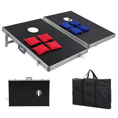 CornHole Bean Bag Toss Game Set Aluminum Frame Portable Design W/ Carrying Case 3