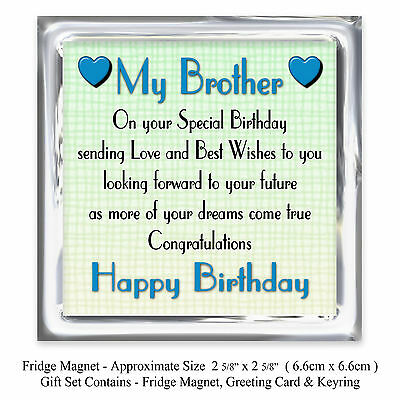 3 Of 4 60th Brother Happy Birthday Gift Set Card Keyring Magnet 60 Today Lots Love