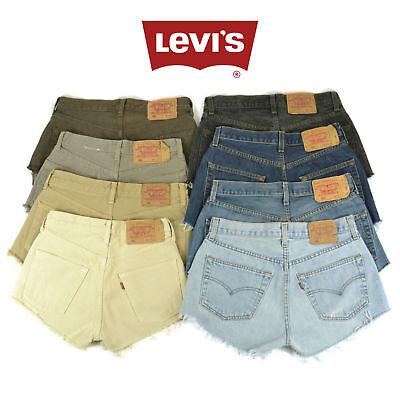 Grade A Levis Vintage Womens High Waisted Denim Shorts Size 6 8 10 12 14 16 18 2
