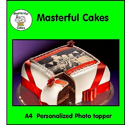 Your Own Personalised A4 Photo Edible Icing Cake Topper 2