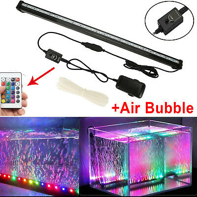 LED Aquarium Lights Submersible Air Bubble RGB Light for Fish Tank Underwater AU 3