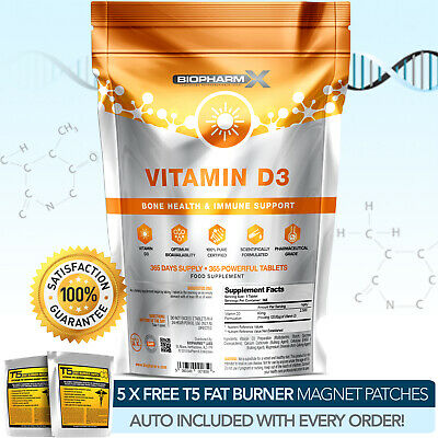 Vitamin D3 - Strongest Pharma Grade Cholecalciferol - 10,000Iu X 365 Tablets ++ 3