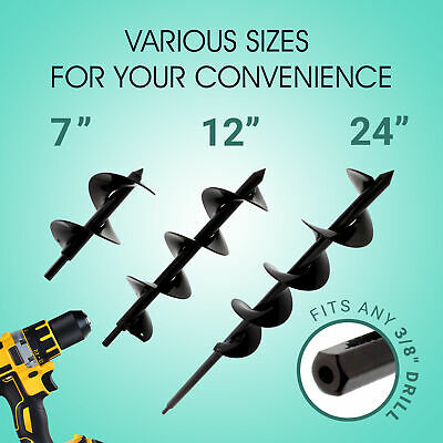 """3//8"""" Hex Drive 7Penn Garden Auger 3"""" x 24"""" Rapid Planter Clearance"""
