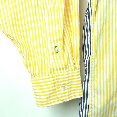 TOMMY HILFIGER SIZE 17 35 Windsor Pinpoint Yellow Blue
