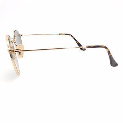 216dd9ef91 ... Ray Ban 3447 N 001 30 Shiny Gold Flat Mirror New Sunglasses Authentic 4