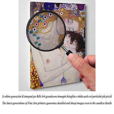 💕 Quadro Klimt Maternità Stampa Fine Art di Pregio su Tela Vernice Pennellate 2