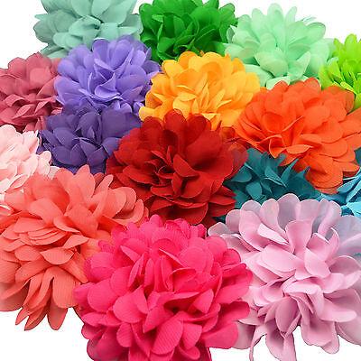 Large Pastel Tone Fabric Flower Hair Clips Grips Bobbles Bridesmaid Pompom Bride 2