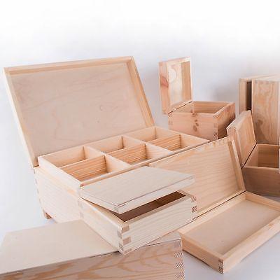 50 Small Wooden Boxes Selection Trinket Keepsake Jewellery Memory