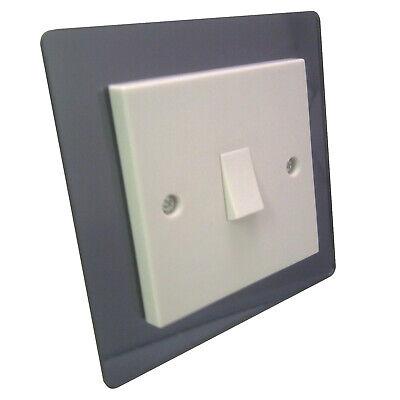 Plain FREE UK POSTAGE Acrylic G1 Mirror Light Switch Surround Finger Plate