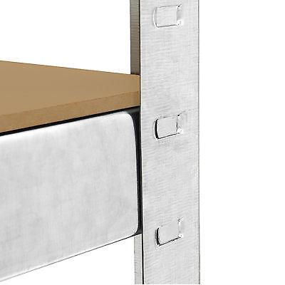 4 x Storage Shelving Garage Racking Heavy Duty 5 Tier Boltless Bays MDF Shelves 9