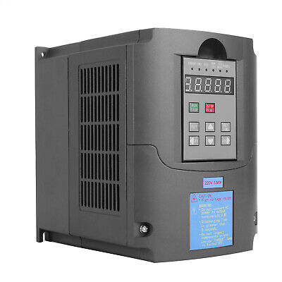 1.5KW 2HP Single To 3 Phase Variable Frequency Drive Inverter CNC VFD VSD 220V 5