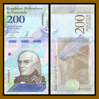Venezuela 2 5 10 20 50 100 200 500 Bolivares Soberanos (8 Pcs Full Set) 2018 New 9