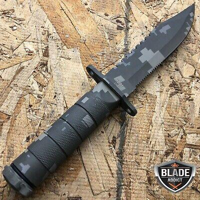 "8.5"" Military Camo Tactical Fishing Hunting Knife Survival Kit Blade w/ Sheath 3"