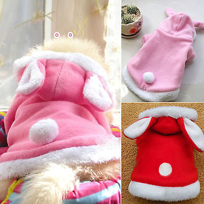 Pet Dog Winter Warm Clothes Costumes Puppy Cat Hoodie Coat Sweater Shirt Apparel 4
