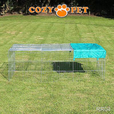 Cozy Pet Rabbit Run Play Pen Guinea Pig Dog Playpen Chicken Puppy Cage Hutch 7