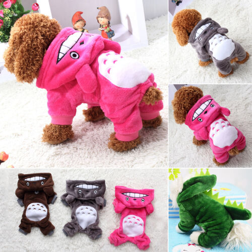 Pet Dog Winter Warm Clothes Costumes Puppy Cat Hoodie Coat Sweater Shirt Apparel 5