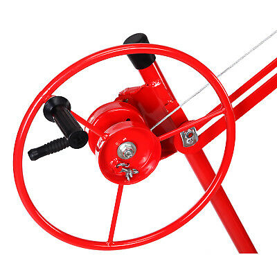 NEW 11' Drywall Lifter Panel Hoist Jack Rolling Caster Construction Lockable Red 7