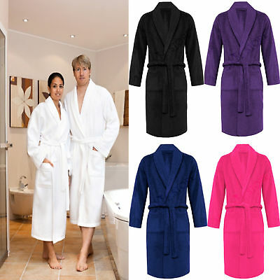 100% Luxury Egyptian Cotton Towelling Bath Robe Unisex Dressing Gown Terry Towel 2