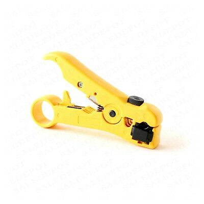 Coaxial Cable Stripping Tool RG6 RG11 RG59 RG7 Wire Cutter Stripper + connectors 3