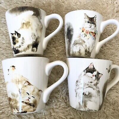 4 NWT Pier 1 Imports Cats Salad Dolomite Plates Flowers Butterfly Set of