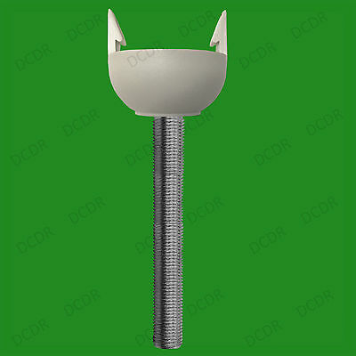 Electrical Lamp Socket 2x M10 300mm x 10mm Allthread Hollow Threaded Rod Tube