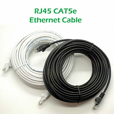 Ethernet Cable PC Gaming Xbox PS4 Network Patch Lead RJ45 Cat5e 0.5 to 50m LOT 2