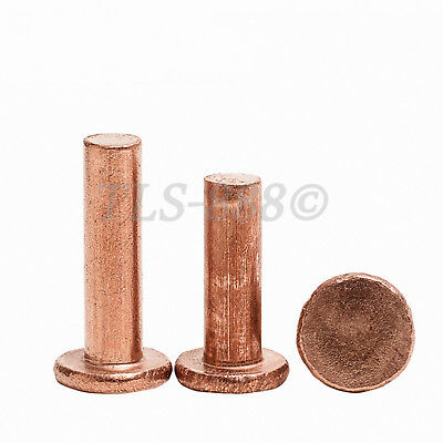 M5 M6 M8 Flat Head Knurling Copper Rivets Solid Brass Rivet Fasteners 3