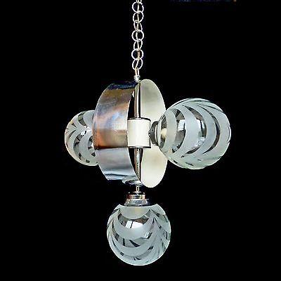 Vintage Mid-Century Italian Chrome Atomic Space Age Sputnik Orbit Chandelier 9