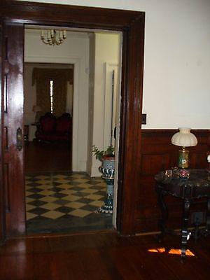 Antique Pocket door  with  beautiful brass  door knobs Architectural  Salvage
