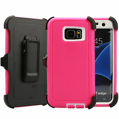 Case Cover Defender For Samsung Galaxy S7 Edge (Belt Clip Fits Otterbox) USA NEW 5
