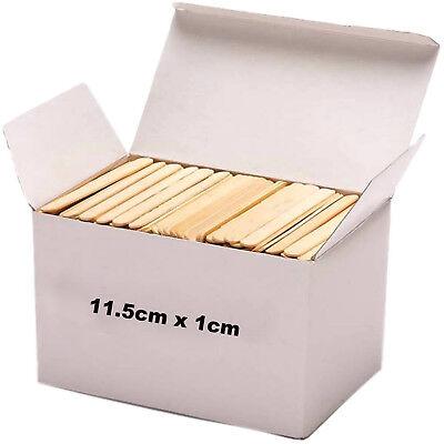 200 100 Wooden Craft Sticks Paddle Pop Popsicle Coffee Stirrers Ice Cream Stick 2