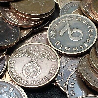 Rare WW2 German 2 RP Reichspfennig 3rd Reich Bronze Nazi Coin Buy 3 Get 1 Free
