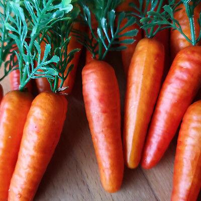 18 x Möhren Karotten 6.5cm Schneemann Nase Dekoration Ostern Gemüse Kunstgemüse 9