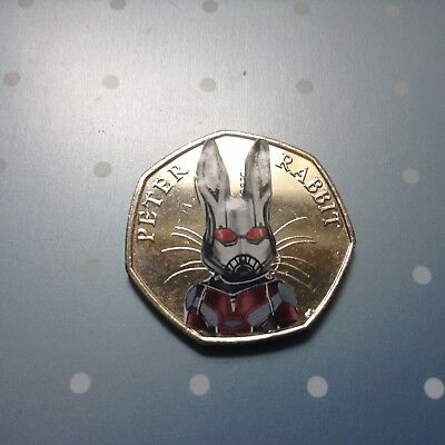 Beatrix Potter Peter Rabbit Marvel Super hero decal 50p set Spider Bat Deadpool 6