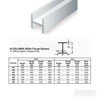 Evergreen Strip Styrene Rods Tubes Angles Model Scratch Building Plastic Build 6