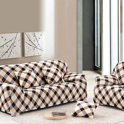 1/2/3 Seater Elastic Sofa Covers Slipcover Settee Stretch Floral Couch Protector 11