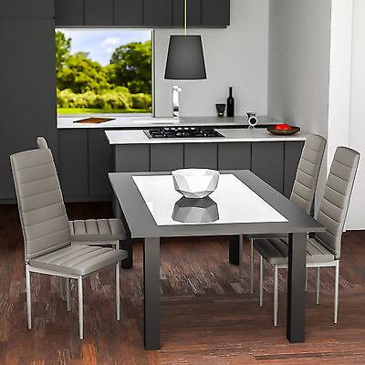 4x Chaise de salle à manger ensemble salon design chaises cuisine neuf gris 2