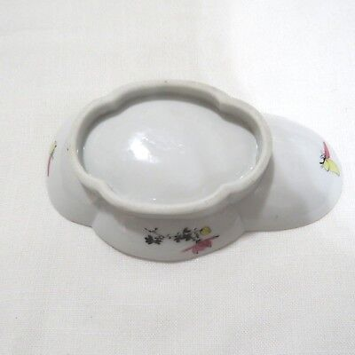 """Antique Japanese Hand Painted Oval Porcelain Plate or Serving Bowl 8.5"""" 6"""
