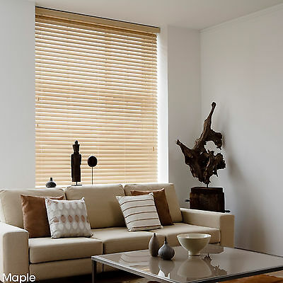 WOODEN VENETIAN REAL WOOD BLINDS - 25,35 & 50mm SLAT SIZES - CHILD SAFE BLIND 4