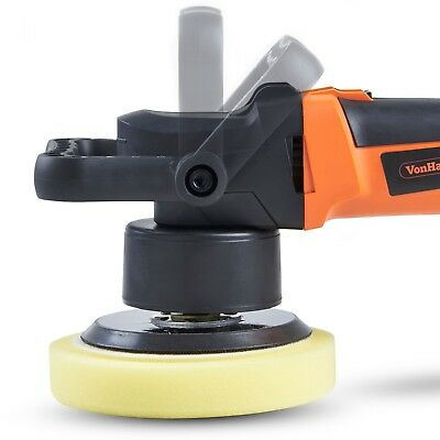 VonHaus Dual Action Car Polisher Kit 180mm Random Orbital Polishing Machine 6