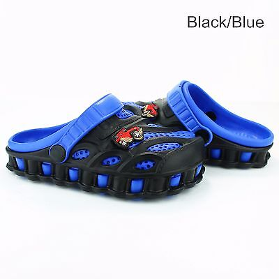 Kids Boys Toddler Garden Clogs Shoes Slip-On Casual Two-tone Slipper Sandals