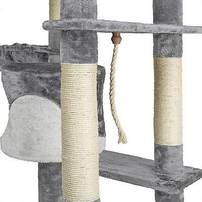 Kratzbaum für Katzen Katzenkratzbaum Katzenbaum Kletterbaum SISAL grau - weiß 2