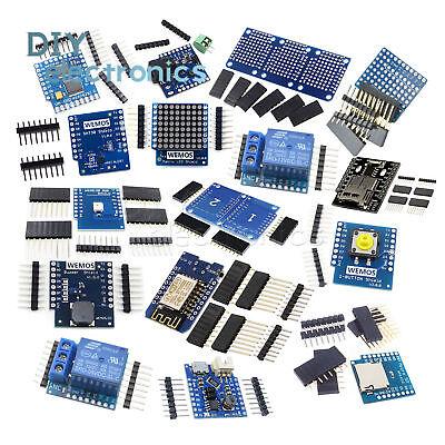 WeMos D1 Mini NodeMcu Lua ESP8266 Relay Shield Proto Board WiFi Module US 2