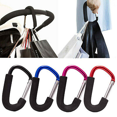 Buggy Clips Coloured Large Pram Pushchair Shopping Bag Hook Mummy Carry Clip 2