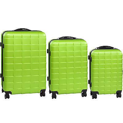 Set 3 Maletas ABS Juego de Maletas de Viaje Trolley Rígidas Verde con Candado 7