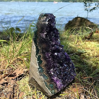 EXTRA LARGE POLISHED Amethyst Druze Crystal Cluster With Cut Base ~ 2 Pounds ea. 10