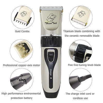 Pet Grooming Clippers Kits Low Noise Dog Cat Rechargeable Cordless Hair Trimmer 2
